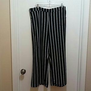 Black & white striped pants NWOT